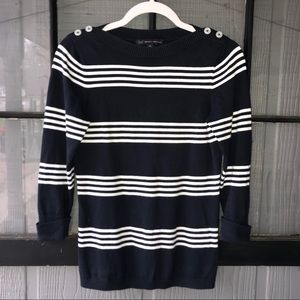 Brooks Brothers sweater, navy and white stripe